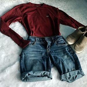 Vineyard Vines Red Maroon Long Sleeve Shirt